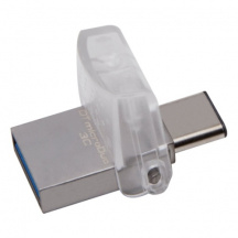 Duální Flash Disk Kingston DataTraveler MicroDUO 3C 128GB, USB 3.1/USB-C, OTG (DTDUO3C/128GB)